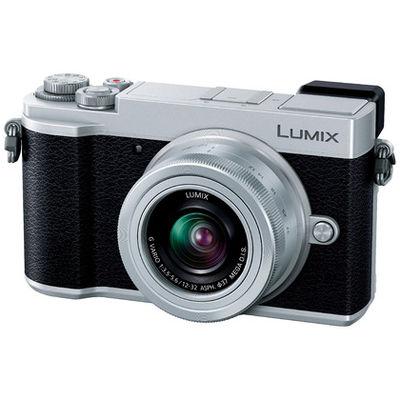 パナソニック ミラーレス一眼 シルバー LUMIX GX7 Mark III 標準ズームキット 2030万画素 フォーサーズ Wi-Fi対応(直送品)