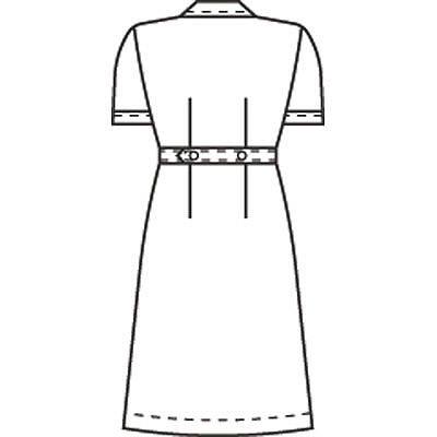 KAZEN ワンピース半袖 (ナースワンピース) 医療白衣 ホワイト S 050-70 (直送品)