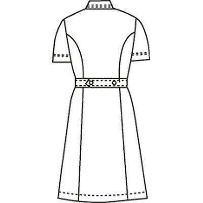 KAZEN ワンピース 半袖 ホワイト×サックス S 012 (直送品)