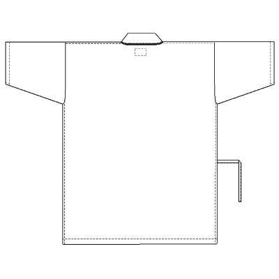 ナガイレーベン 患者衣 じんべい型 ブルーEL SG1441 (取寄品)