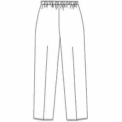 ナガイレーベン レディスパンツ ナースパンツ 医療白衣 ホワイト L CA-1723 (取寄品)