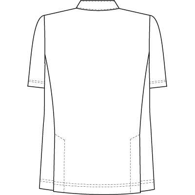 ナガイレーベン 男子横掛半袖(ケーシー 医務衣) ホワイト L HO-1967 (取寄品)