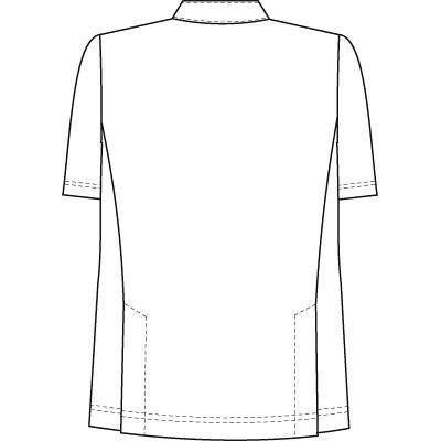ナガイレーベン 男子横掛半袖(ケーシー 医務衣) HO1967 ブルー LL (取寄品)