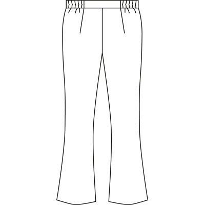 KAZEN レディススラックス 医療白衣 ピンク 4L 194-23 (直送品)