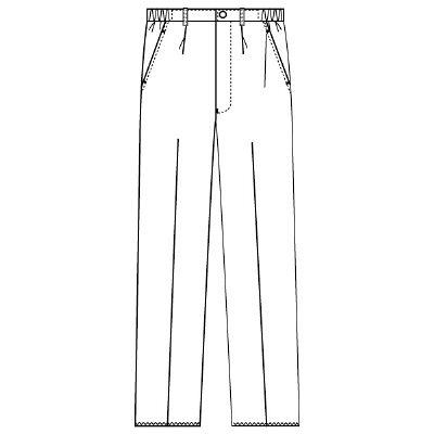 フォーク 男子パンツ 5010CR-1 ホワイト 4L (取寄品)