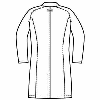 ルコックスポルティフ レディスシングル診察衣 ホワイト S QNW4011(UQW4011) (直送品)