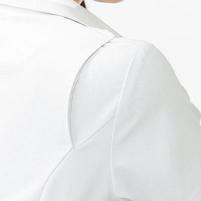 KAZEN ワンピース半袖 (ナースワンピース) 医療白衣 ホワイト M 003-20 (直送品)