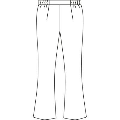 KAZEN レディススラックス 医療白衣 ホワイト S 194-20 (直送品)