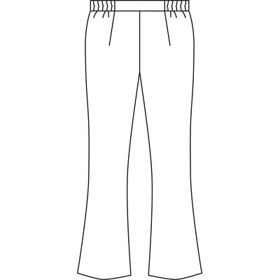 KAZEN レディススラックス M サックス 194-21-M (直送品)