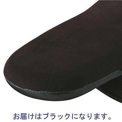 革袋縫いスリッパ L ブラック 3足