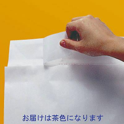 「現場のチカラ」 宅配袋茶無地特小(A4) フィルム貼 封緘シール付 1箱(200枚入) スーパーバッグ