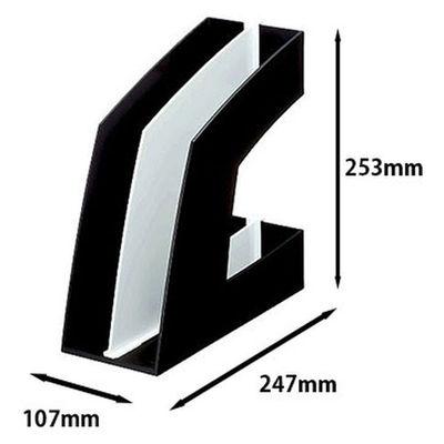 ソニック ファイルボックス タテ型 ブラック FB-708-D 1袋(10個入)