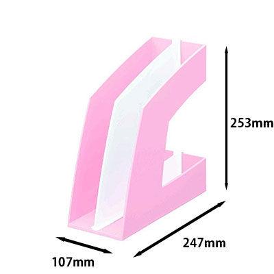 ソニック ファイルボックス タテ型 ピンク FB-708-P 1袋(10個入)