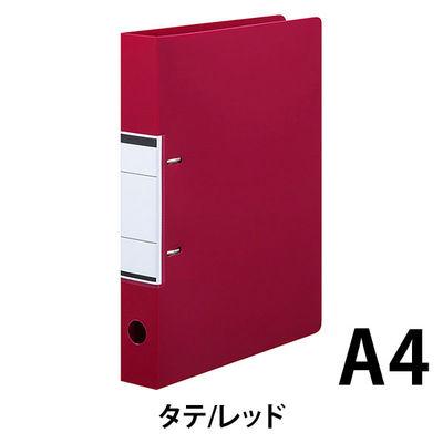 リングファイル D型2穴 A4タテ 背幅41mm 10冊 アスクル ユーロスタイル レッド