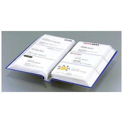 リヒトラブ カードホルダー 縦型 240カード 青 A4103-8 (直送品)