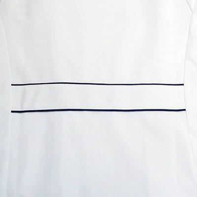 フォーク ワンピース ホワイト L 3012CR-1 1枚 (直送品)