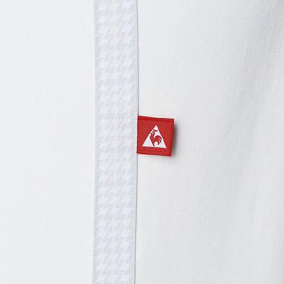 ルコックスポルティフ レディスパンツ チェックテープ UQW2014 ホワイト L  (直送品)