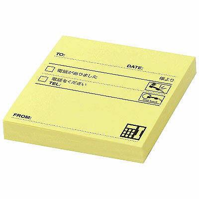 【強粘着】スリーエム ポスト・イット強粘着電話メモ 黄 SSP-33TY 1箱(900枚入:90枚×10冊入) (直送品)