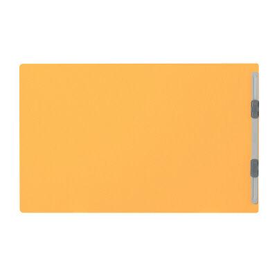 プラス フラットファイル厚とじ A4ヨコ 10冊 イエロー No.022NW 樹脂製とじ具(直送品)