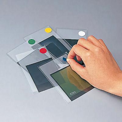ニチバン マイタック(R)ラベル カラー丸シール 5色 16mm ML-R111 1箱(各色480片:各色48片入×10袋) (直送品)
