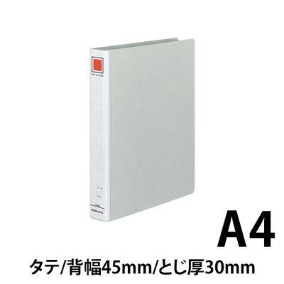 コクヨ チューブファイル(エコ) A4タテ とじ厚30mm 2穴 シルバー フーE630C 1箱(10冊入)