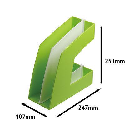 ソニック ファイルボックス タテ型 グリーン FB-708-G 1セット(5個)