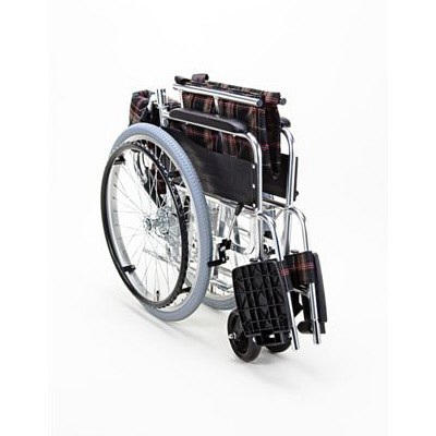 マキテック グリーンチェック KS50-4643GC 自走用 背折れ式 アルミ製 介助ブレーキ付き ワイドサイズ (取寄品)
