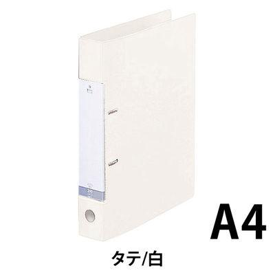 リヒトラブ D型リングファイル A4タテ 背幅46mm 白 G2230