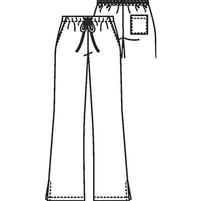 スクラブパンツ4101P(ベルボトム・男女兼用) 4101P ブラック XS (取寄品)