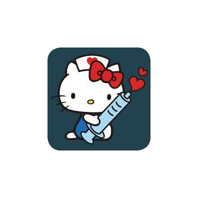 スクラブ ハローキティ HKIJ カリビアンブルー L (取寄品)