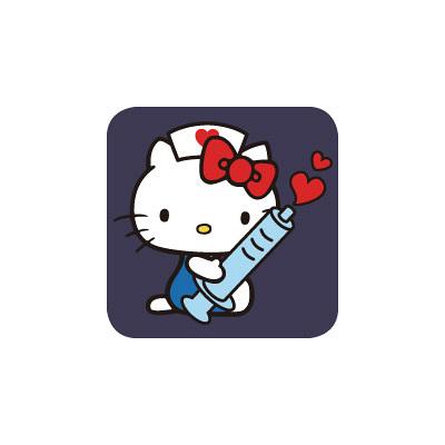 スクラブ ハローキティ HKIJ ネイビー M (取寄品)