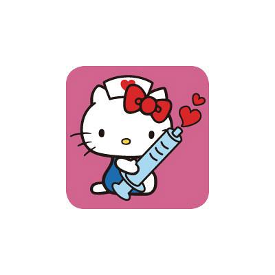 スクラブ ハローキティ HKIJ ショッキングピンク XS (取寄品)