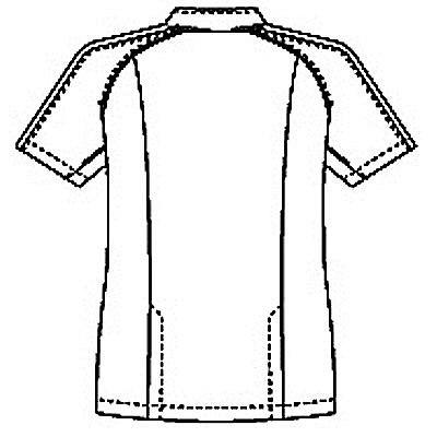 ルコックスポルティフ メンズジャケット(サイドファスナー 医務衣) UQM1001 ホワイト×ブルー S (直送品)