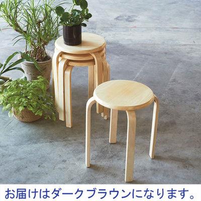 木製ラウンドスツール