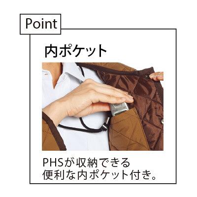 【メーカーカタログ】 トンボ キラク キルトジャケット  ブラック BL BL CR611-09 1枚  (取寄品)