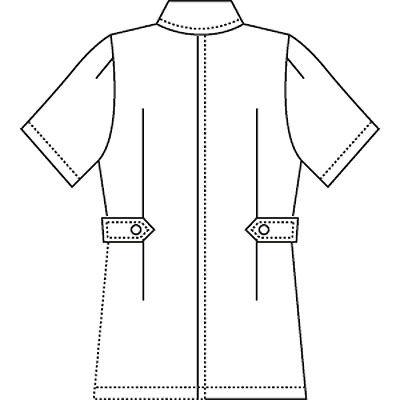AITOZ(アイトス) ナースジャケット(ベーシック) 女性用 半袖 ホワイト 4L 861346-001 (直送品)