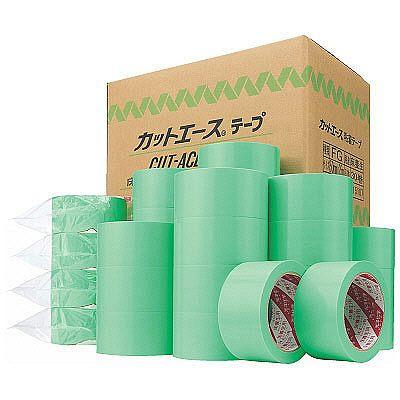 光洋化学 床養生テープ カットエースFG グリーン 幅50mm×25m巻 1セット(90巻:30巻入×3箱)