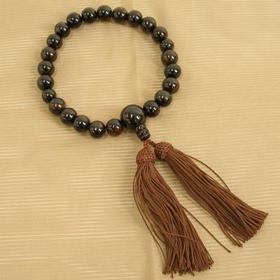 数珠 縞黒檀 22玉共