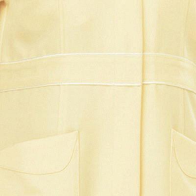 AITOZ(アイトス) パイピングワンピース(ナースワンピース) 半袖 レモンイエロー 4L 861364-019 (直送品)