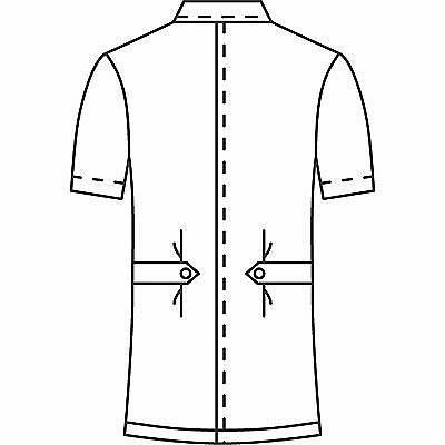 AITOZ(アイトス) オープンネックチュニック(ナースジャケット) 半袖 ホワイト 4L 861369-001 (直送品)