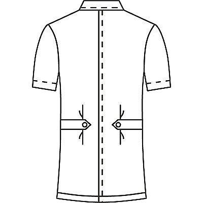 AITOZ(アイトス) オープンネックチュニック(ナースジャケット) 半袖 レモンイエロー 5L 861369-019 (直送品)