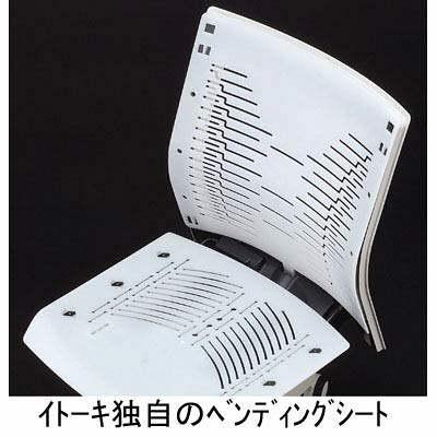 イトーキ コペル オフィスチェア 肘無し ブルー/ブラック YCS-BUBL 1脚 (直送品)