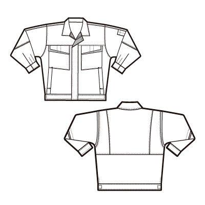 アイトス 長袖ブルゾン(配色) ロイヤルブルー L AZ6570-006-L 1着 (直送品)