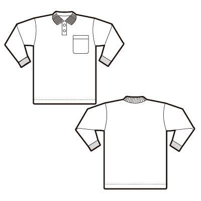 AITOZ(アイトス) 事務服 ユニセックス 小さいサイズ 長袖ポロシャツ ホワイト 3S AZ-7614 1着 (直送品)