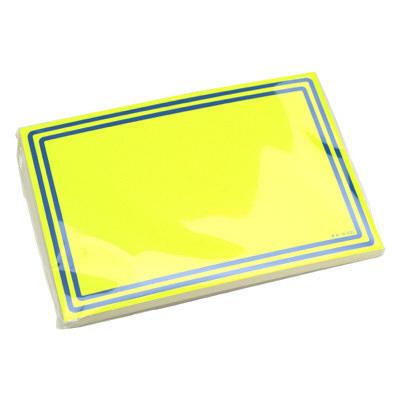 タカ印 ケイコーカード 二重枠 大レモン 14-3725 1箱(20枚入×5冊) (取寄品)