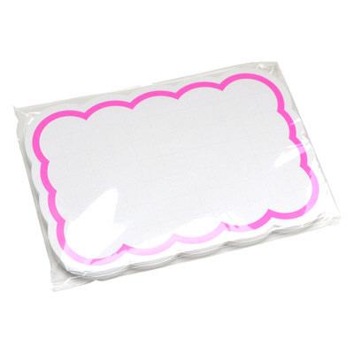 タカ印 抜型カード 波四角 特大 ピンク 16-4490 1箱(30枚入×5冊) (取寄品)