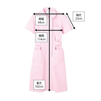 ナースワンピース ピンク 3L