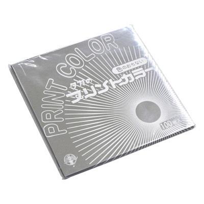 タカ印 プリントカラー 15cm角 銀 30-26 1箱(100枚袋入×10冊) (取寄品)