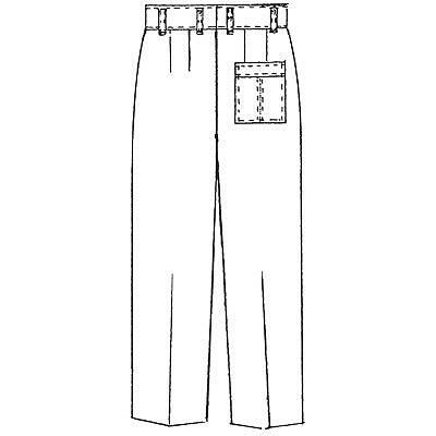 KAZEN メンズXLAスラックス サックスブルー(水色) 120cm XLA150-C/1 (直送品)