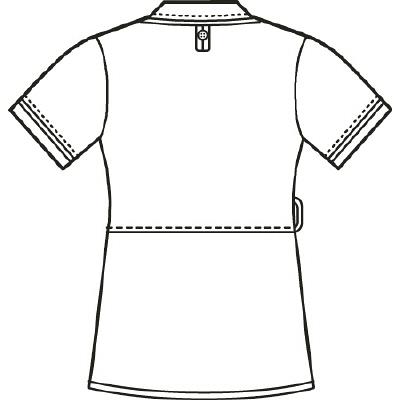 AITOZ(アイトス) アシンメトリーカラーチュニック ナースジャケット 医療白衣 半袖 ネイビー×ホワイト LL 861115